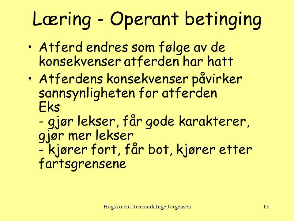Læring - Operant betinging