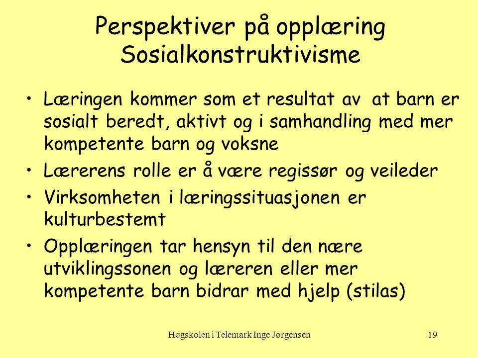 Perspektiver på opplæring Sosialkonstruktivisme