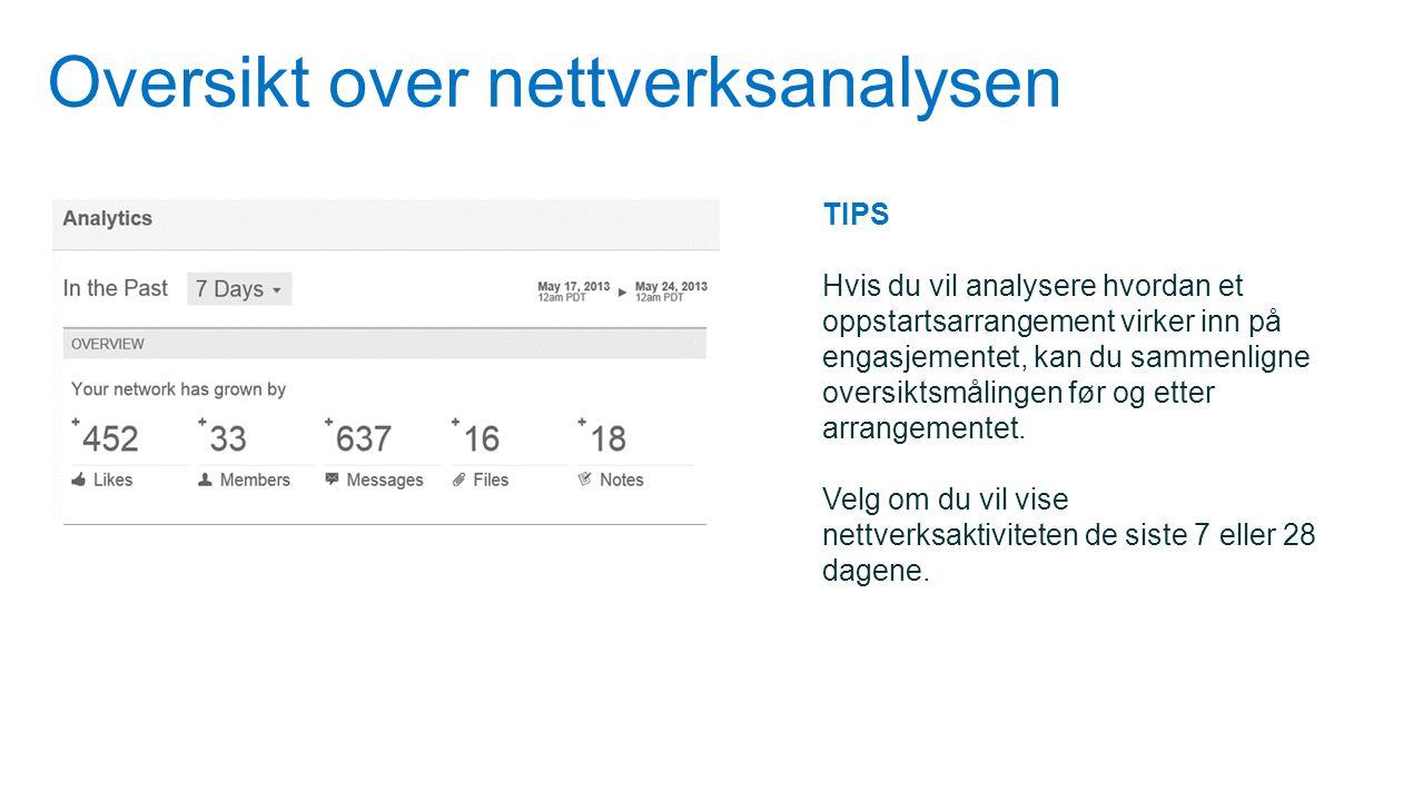 Oversikt over nettverksanalysen