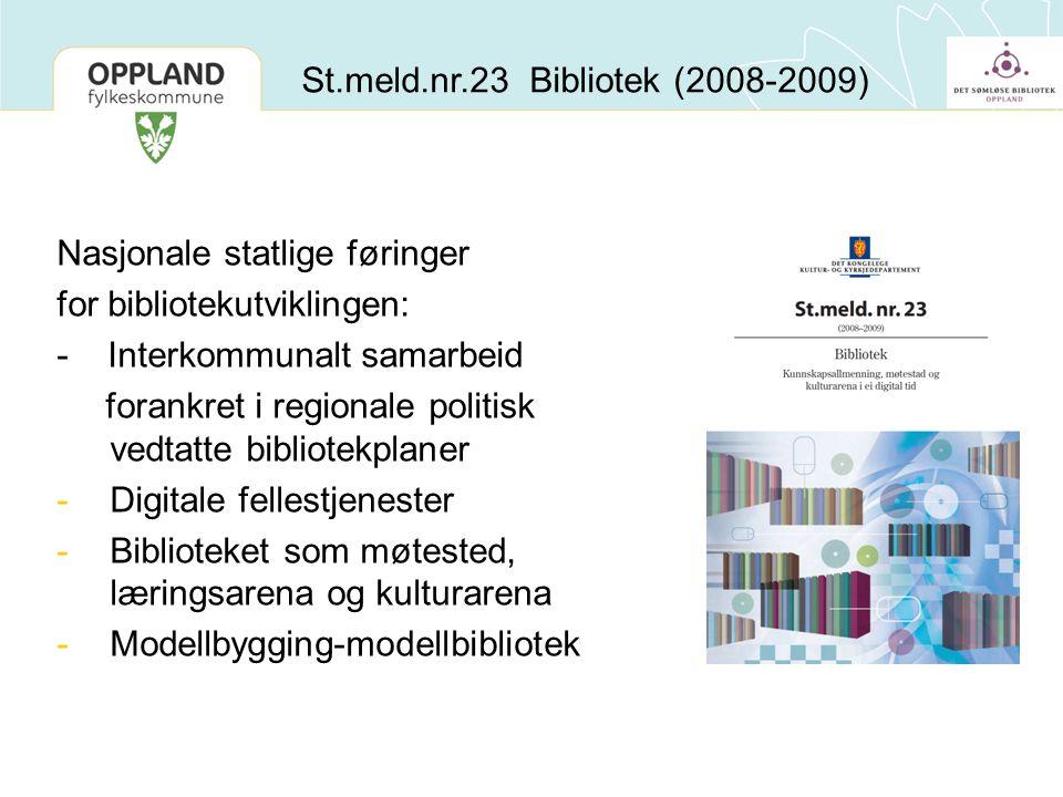 St.meld.nr.23 Bibliotek (2008-2009)