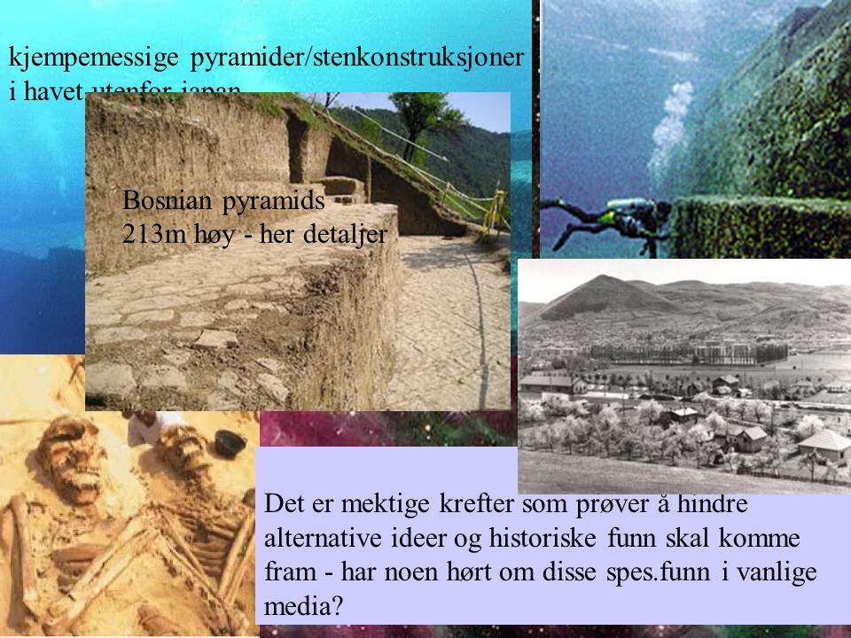 kjempemessige pyramider/stenkonstruksjoner