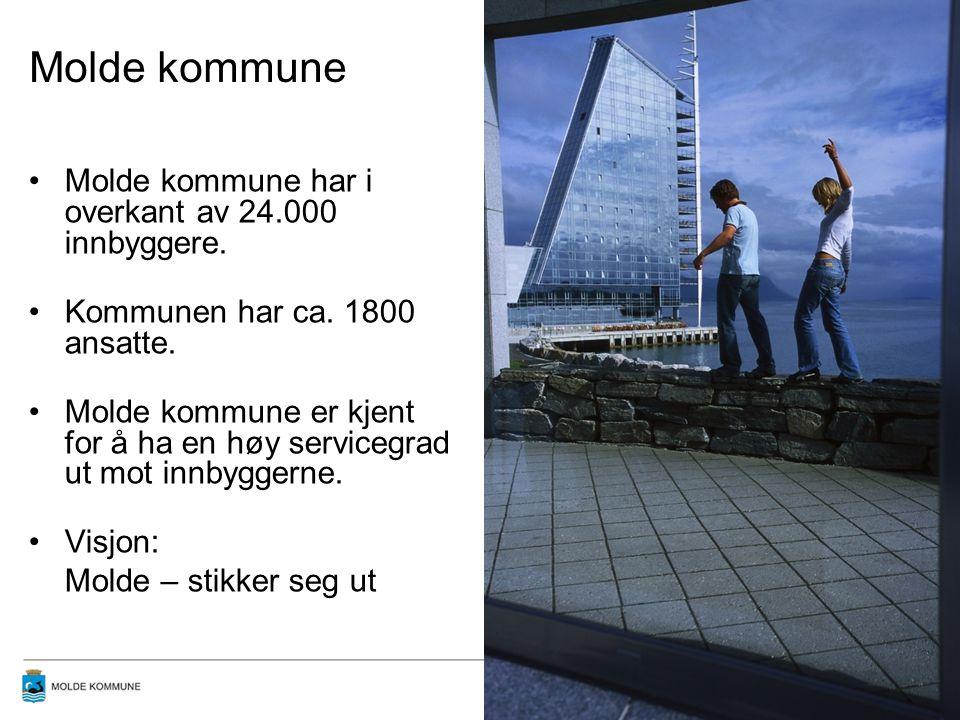 Molde kommune Molde kommune har i overkant av 24.000 innbyggere.