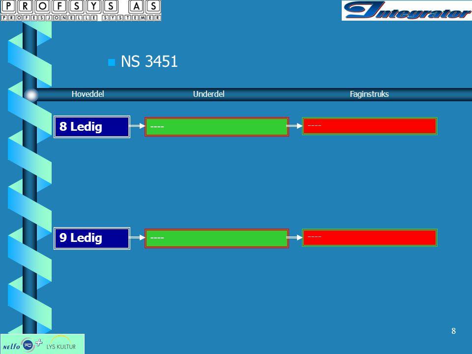 NS 3451 8 Ledig 9 Ledig ---- ---- Hoveddel Underdel Faginstruks ----