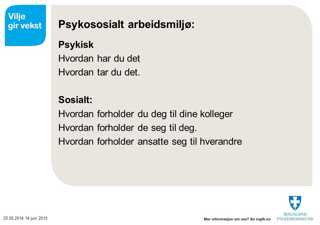 Psykososialt arbeidsmiljø: