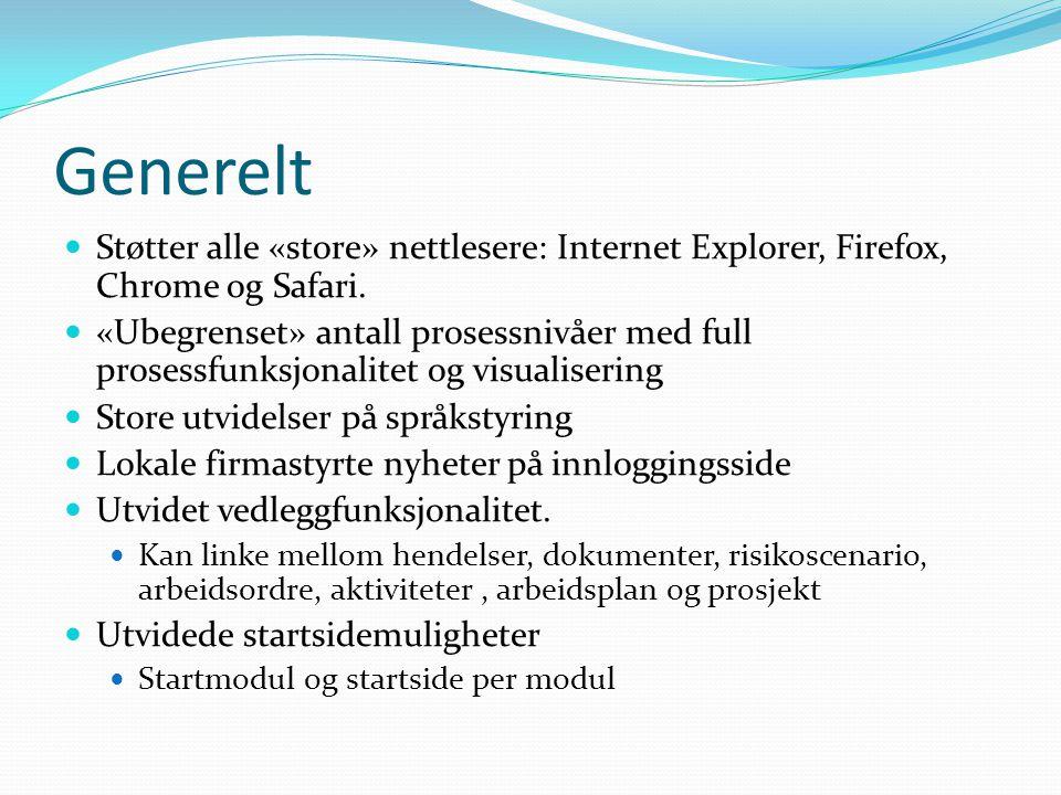 Generelt Støtter alle «store» nettlesere: Internet Explorer, Firefox, Chrome og Safari.