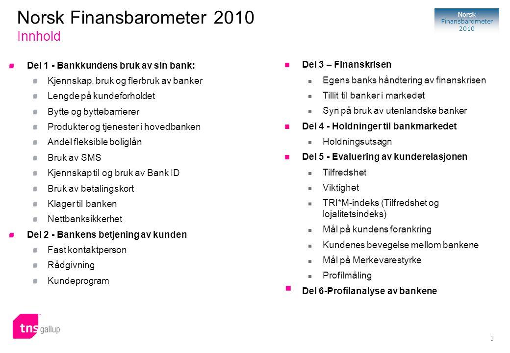 Norsk Finansbarometer 2010 Innhold