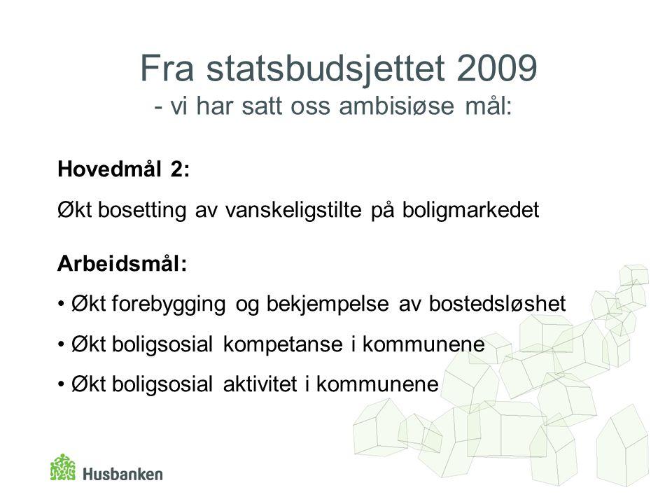 Fra statsbudsjettet 2009 - vi har satt oss ambisiøse mål: