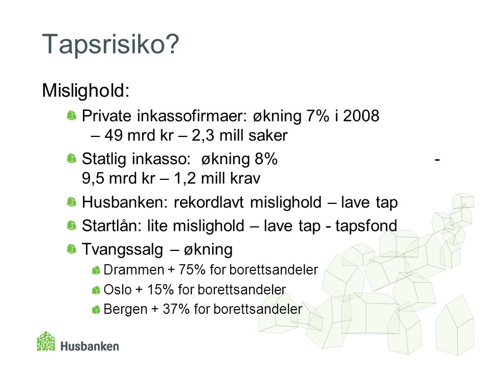 Tapsrisiko Mislighold: