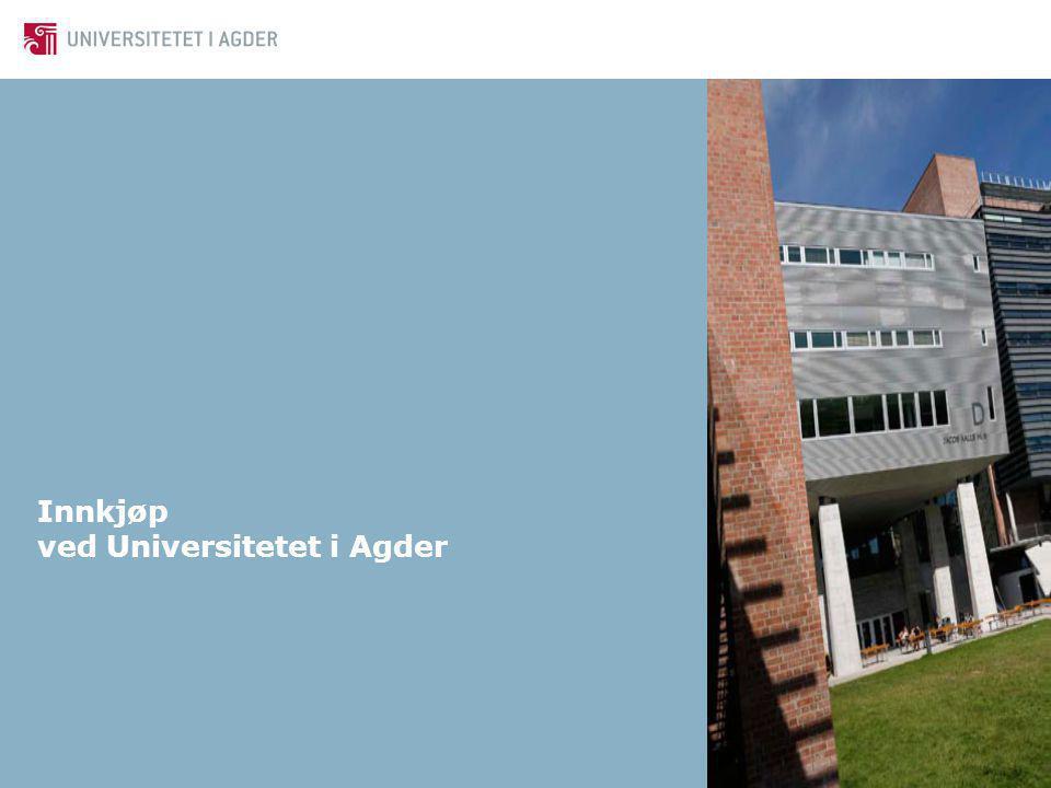 Innkjøp ved Universitetet i Agder