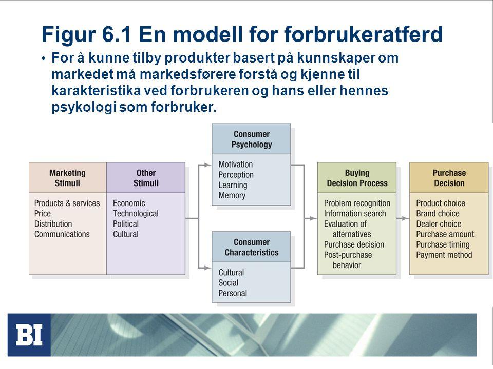 Figur 6.1 En modell for forbrukeratferd