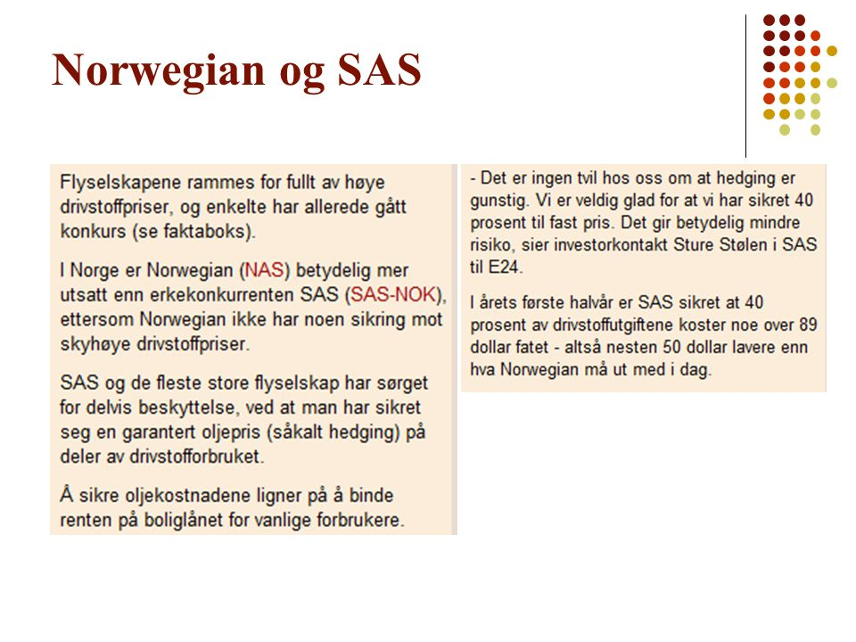Norwegian og SAS