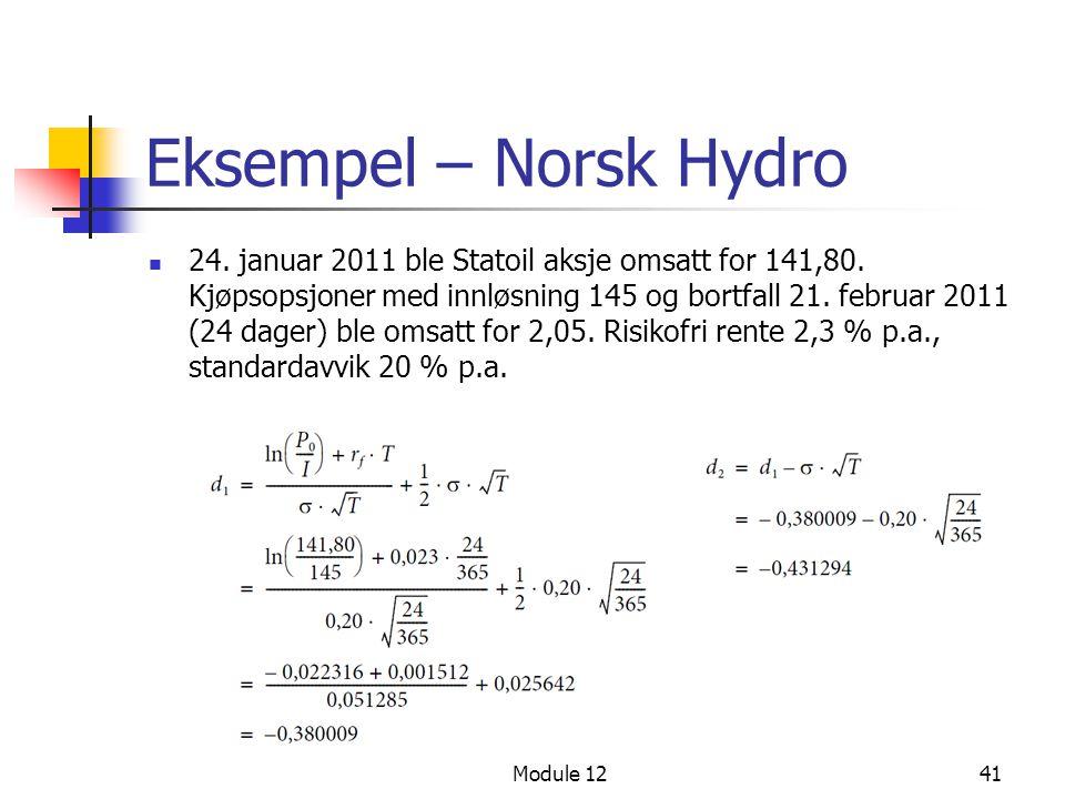 Eksempel – Norsk Hydro