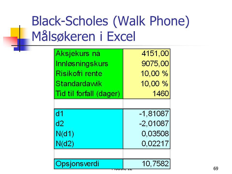 Black-Scholes (Walk Phone) Målsøkeren i Excel