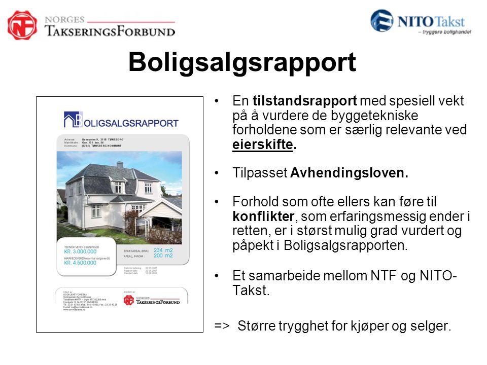 Boligsalgsrapport En tilstandsrapport med spesiell vekt på å vurdere de byggetekniske forholdene som er særlig relevante ved eierskifte.