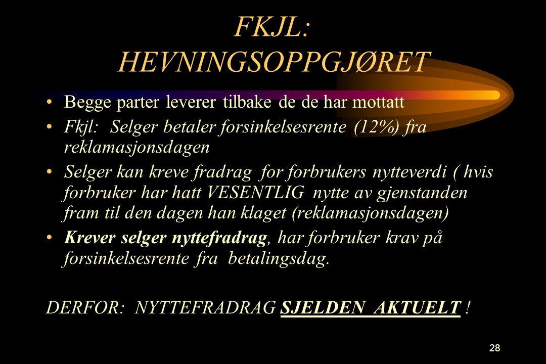 FKJL: HEVNINGSOPPGJØRET