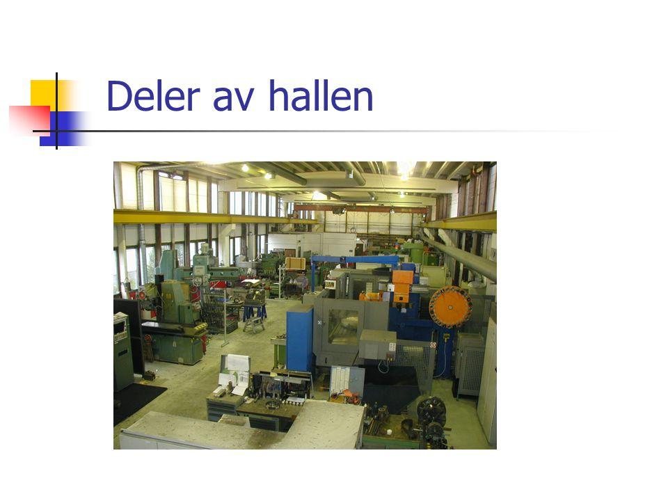 Deler av hallen