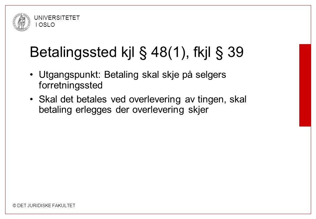 Betalingssted kjl § 48(1), fkjl § 39