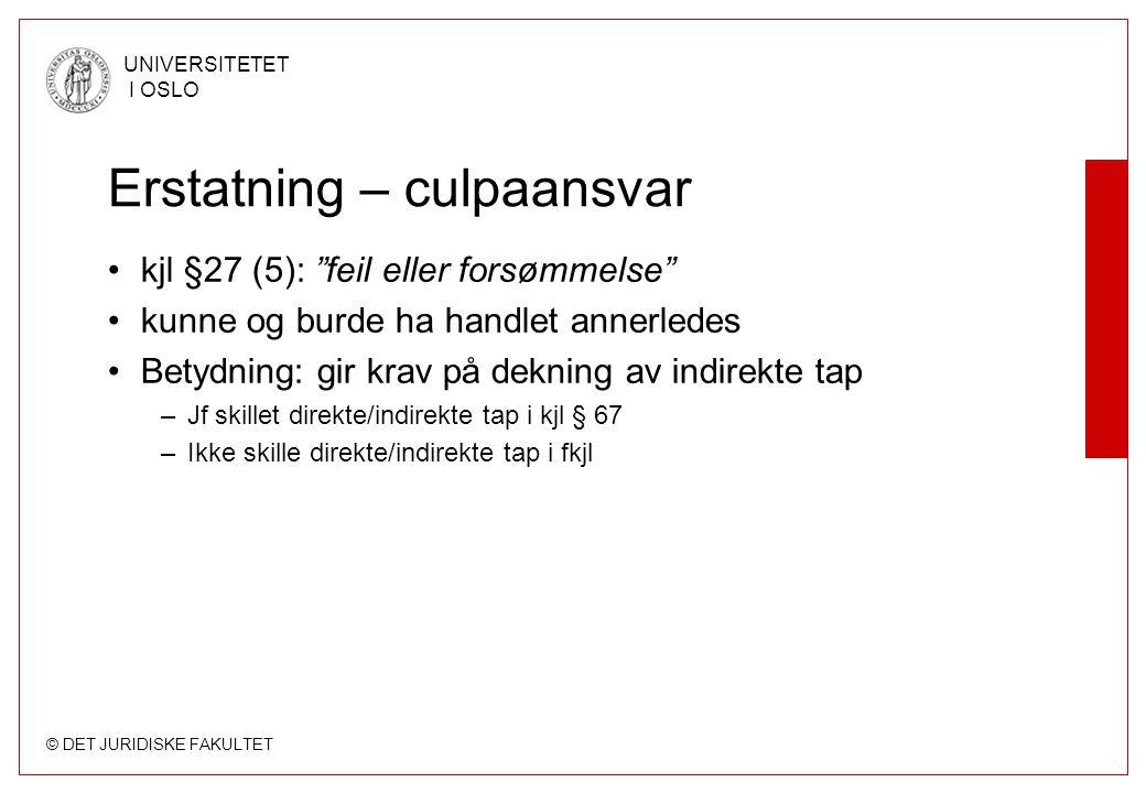Erstatning – culpaansvar