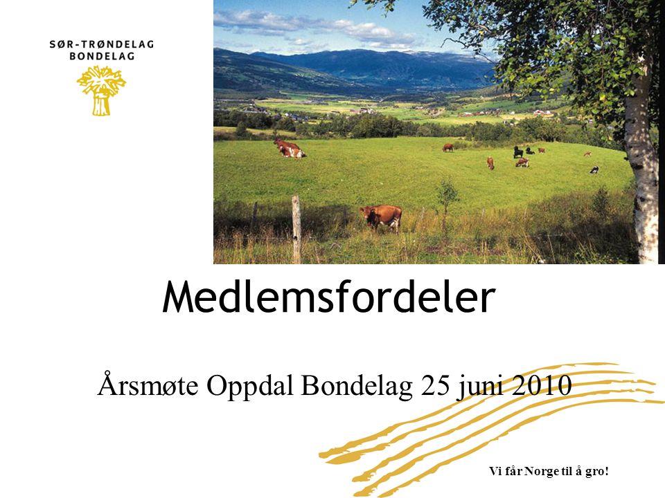 Årsmøte Oppdal Bondelag 25 juni 2010