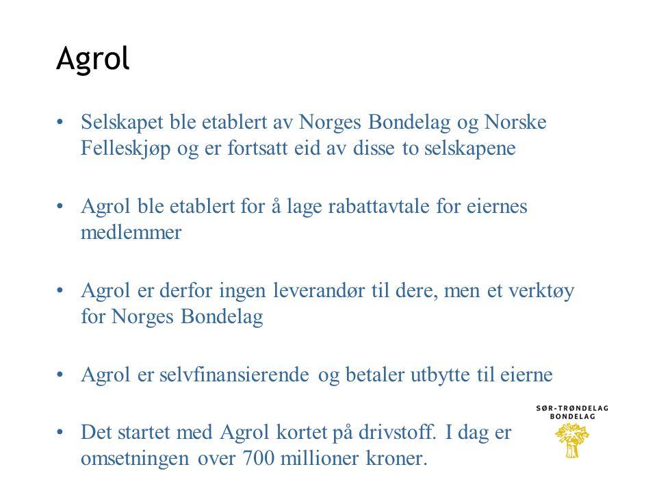Agrol Selskapet ble etablert av Norges Bondelag og Norske Felleskjøp og er fortsatt eid av disse to selskapene.