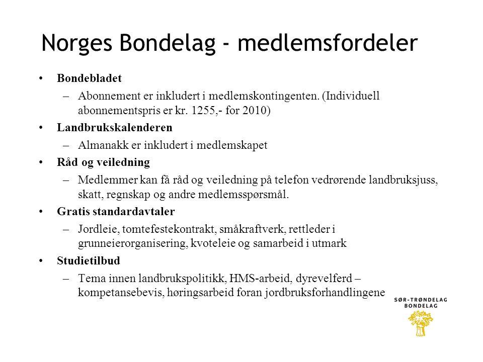 Norges Bondelag - medlemsfordeler