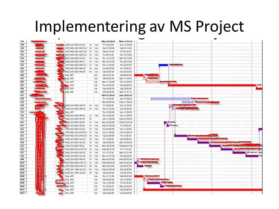 Implementering av MS Project