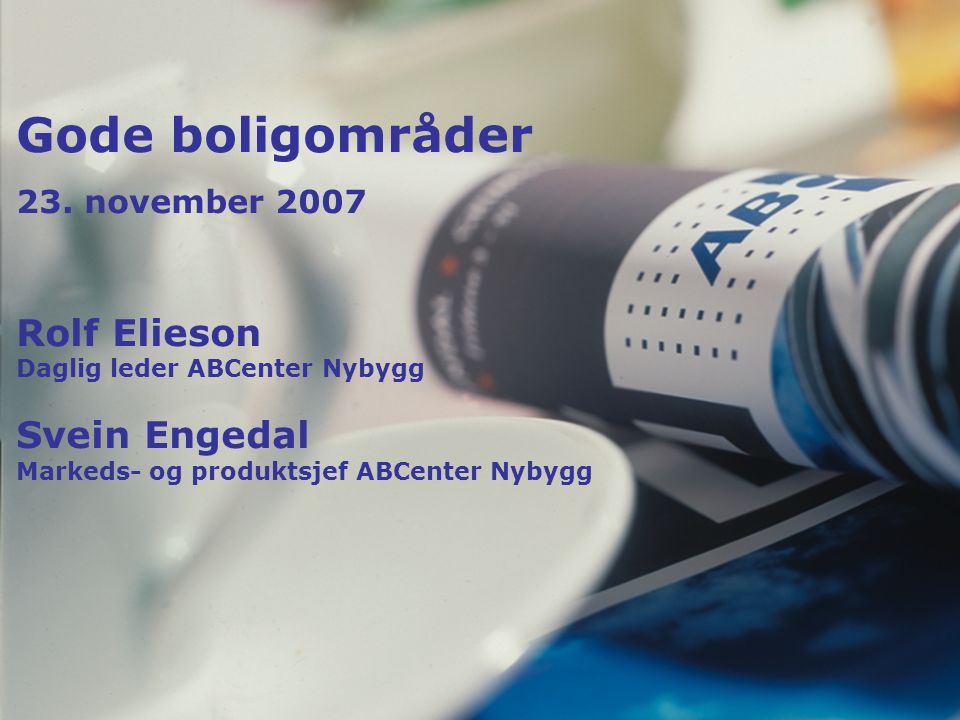 Svein Engedal Fagsjef Nybygg