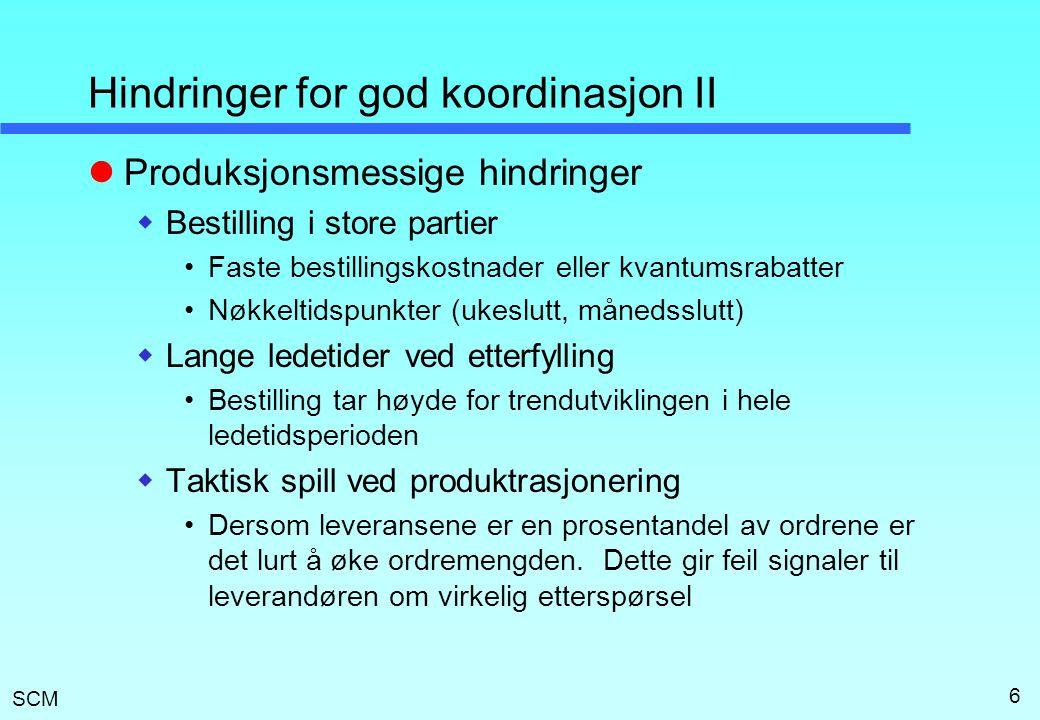 Hindringer for god koordinasjon II