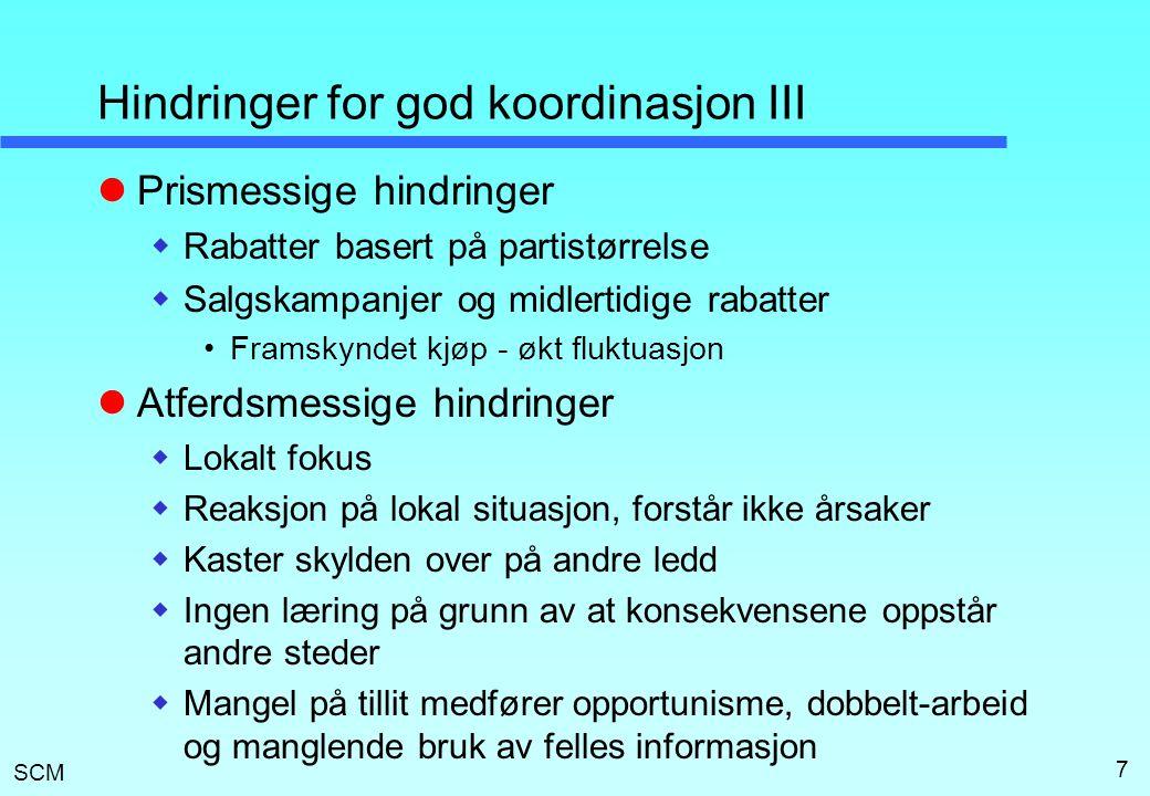 Hindringer for god koordinasjon III