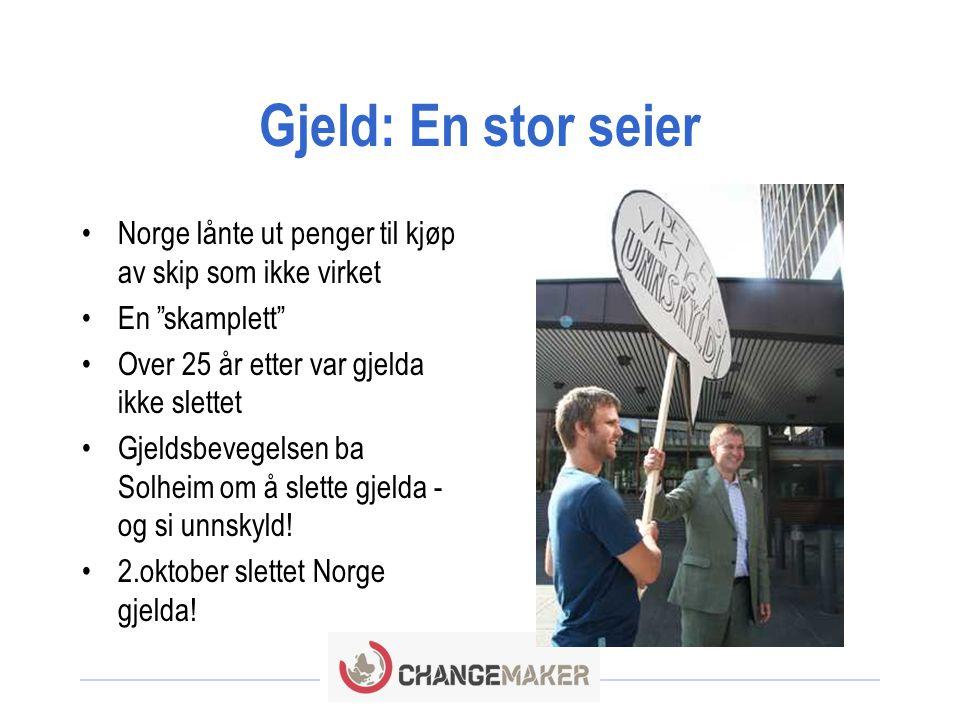 Gjeld: En stor seier Norge lånte ut penger til kjøp av skip som ikke virket. En skamplett Over 25 år etter var gjelda ikke slettet.