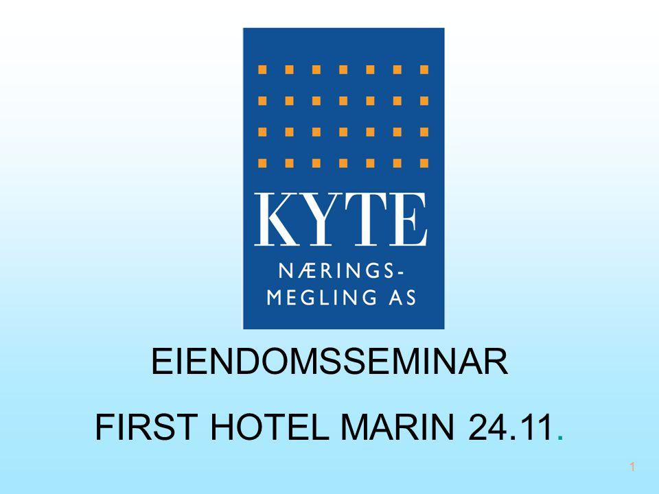 EIENDOMSSEMINAR FIRST HOTEL MARIN 24.11. 03.04.2017
