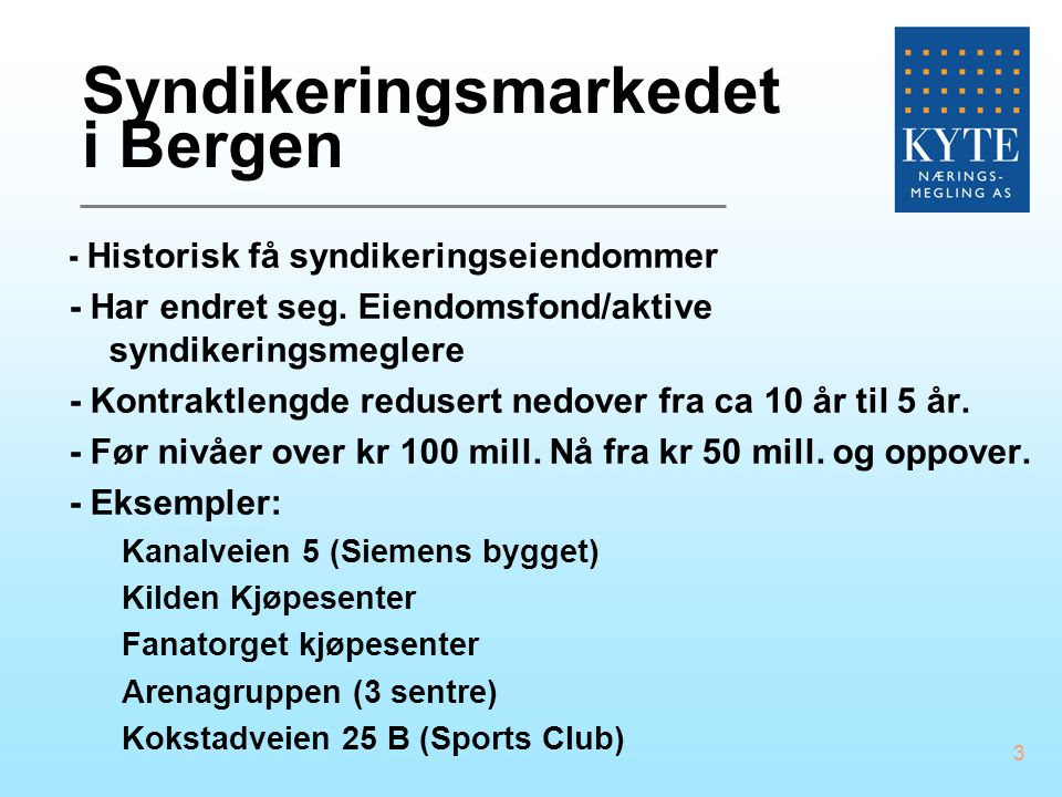 Syndikeringsmarkedet i Bergen