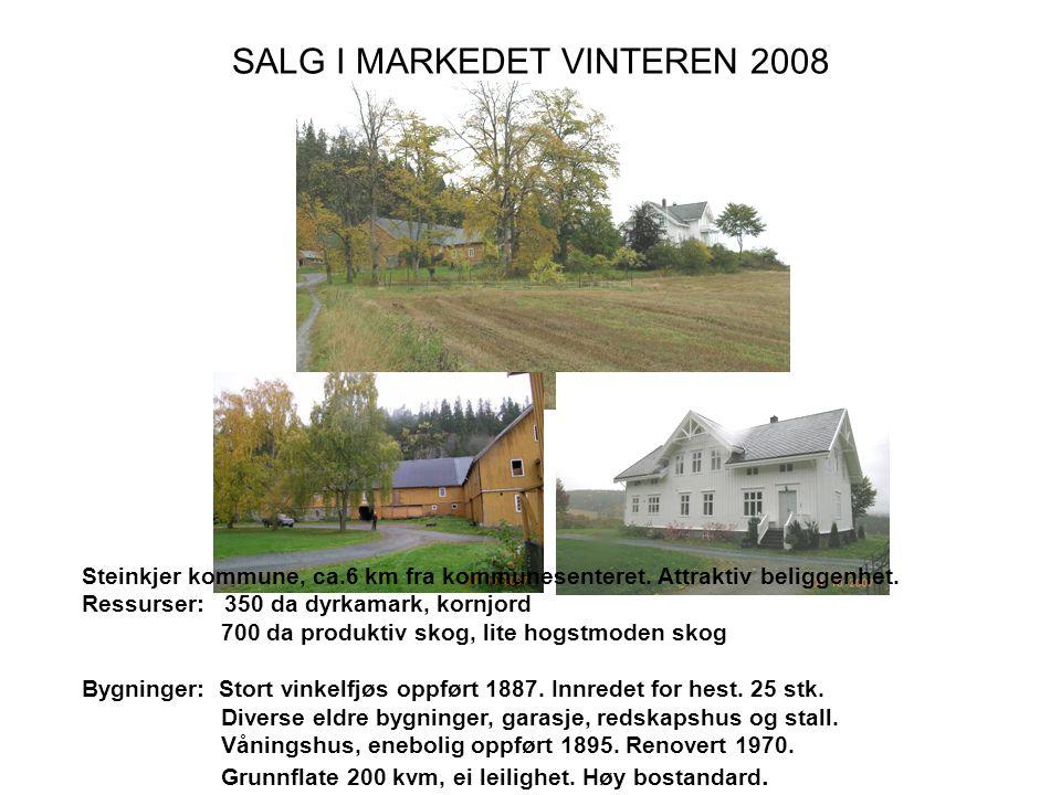 SALG I MARKEDET VINTEREN 2008