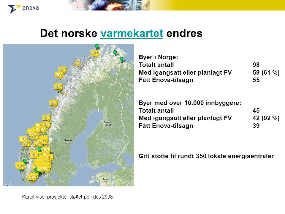 Det norske varmekartet endres