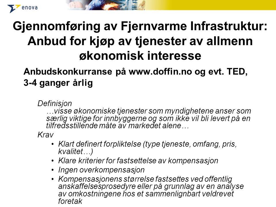 Gjennomføring av Fjernvarme Infrastruktur: Anbud for kjøp av tjenester av allmenn økonomisk interesse