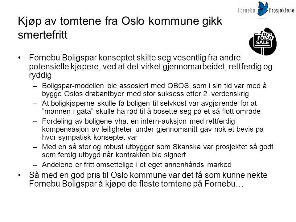 Kjøp av tomtene fra Oslo kommune gikk smertefritt