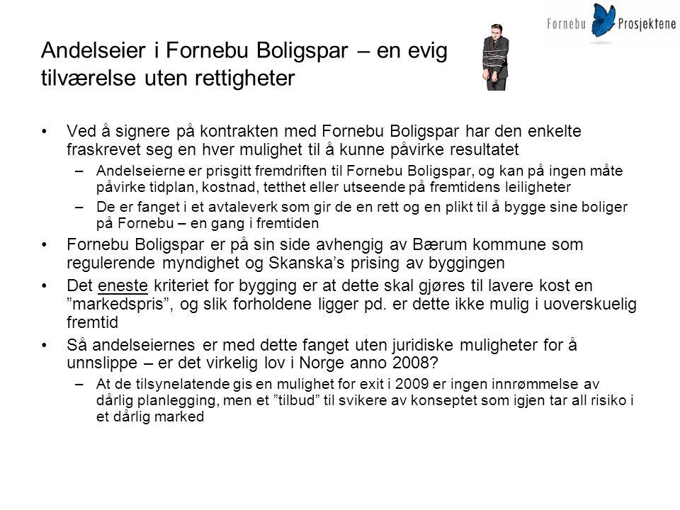 Andelseier i Fornebu Boligspar – en evig tilværelse uten rettigheter