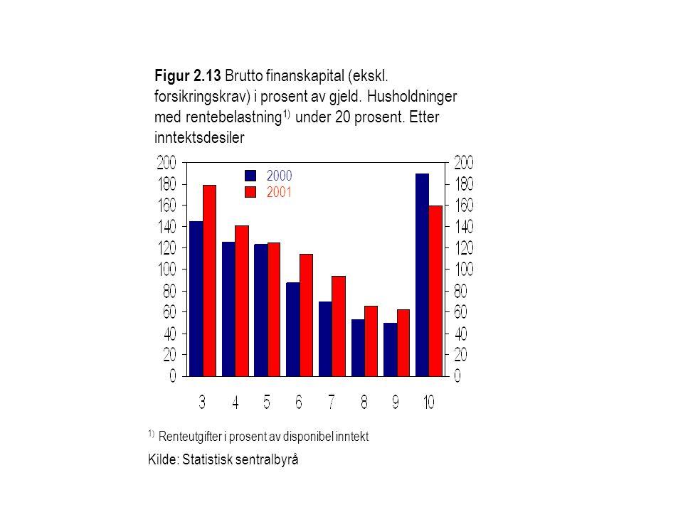 Figur 2. 13 Brutto finanskapital (ekskl