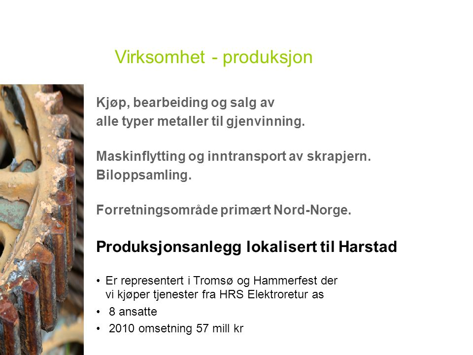 Virksomhet - produksjon