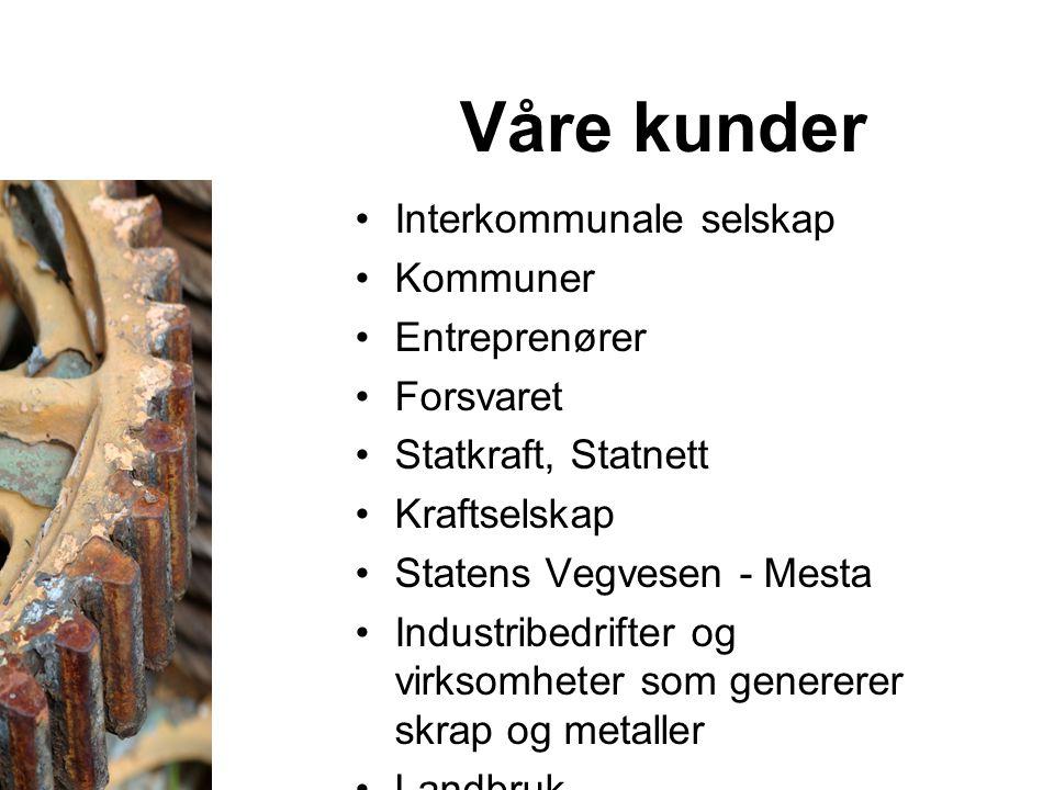 Våre kunder Interkommunale selskap Kommuner Entreprenører Forsvaret