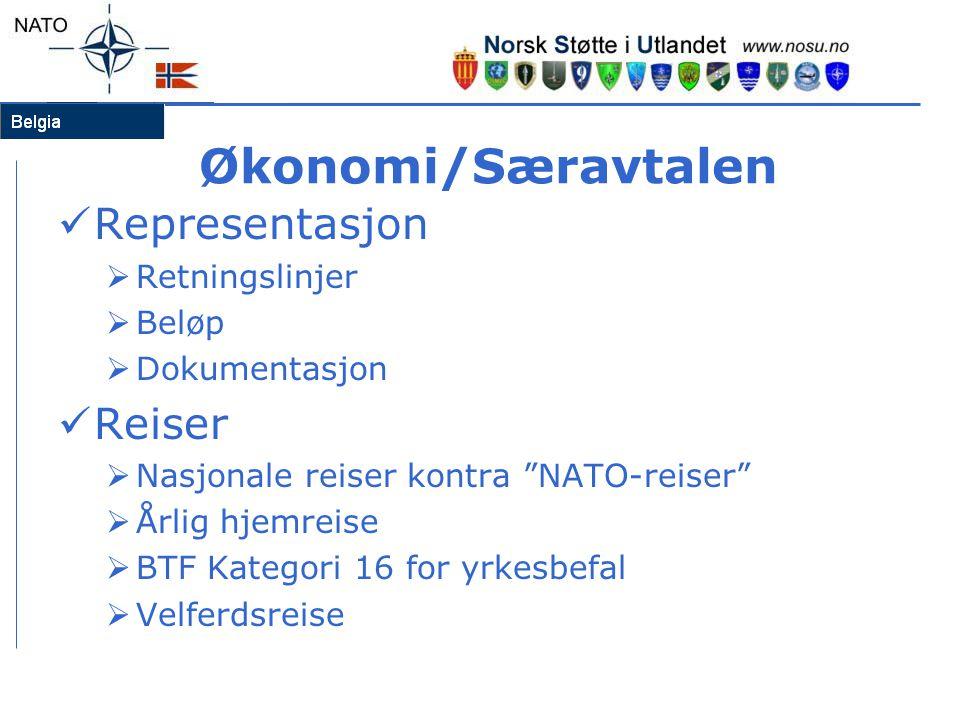Økonomi/Særavtalen Representasjon Reiser Retningslinjer Beløp