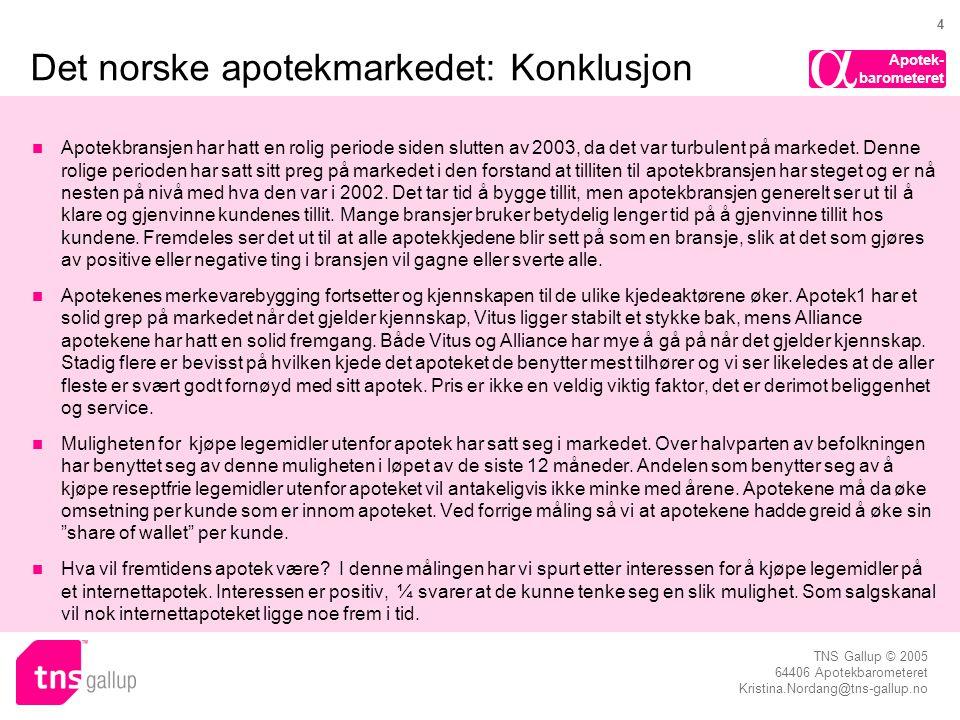 Det norske apotekmarkedet: Konklusjon