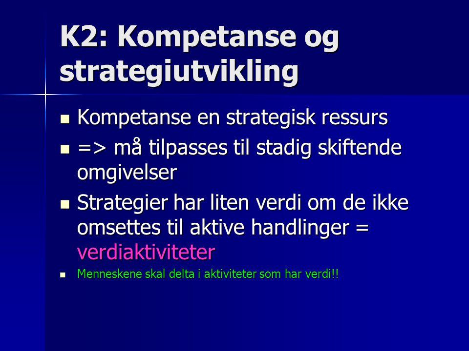K2: Kompetanse og strategiutvikling
