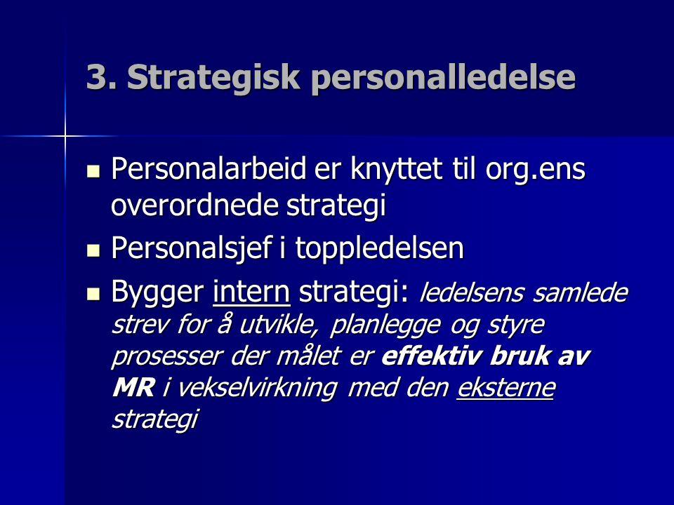 3. Strategisk personalledelse