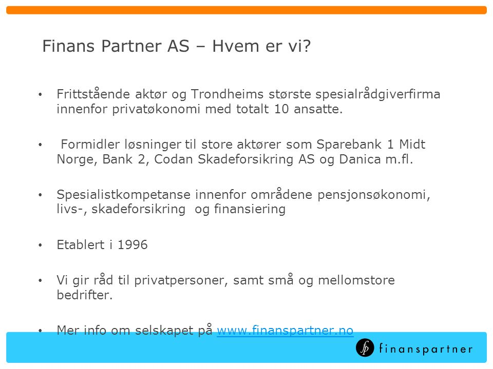 Finans Partner AS – Hvem er vi
