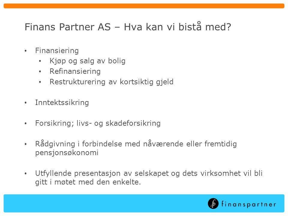 Finans Partner AS – Hva kan vi bistå med