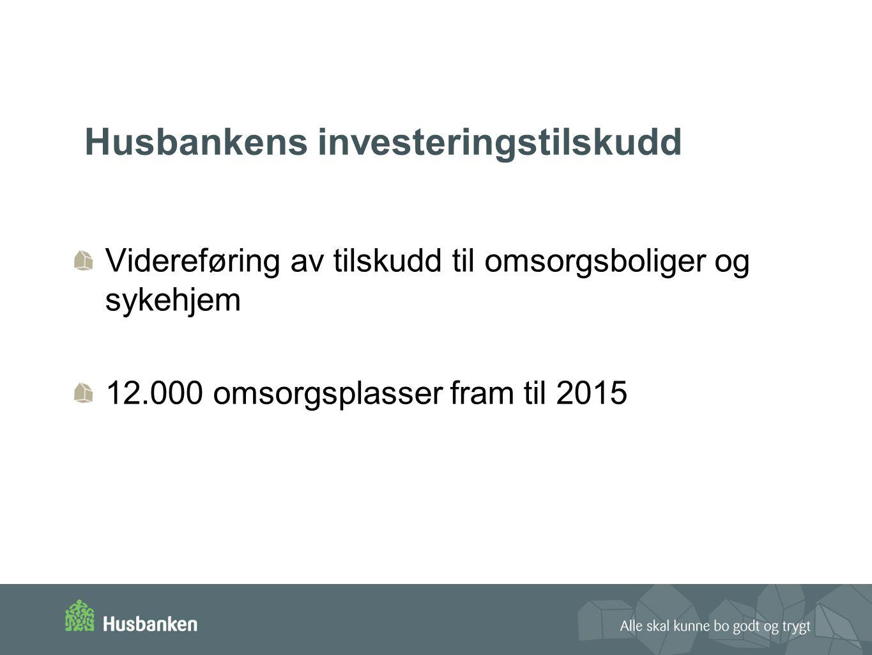Husbankens investeringstilskudd