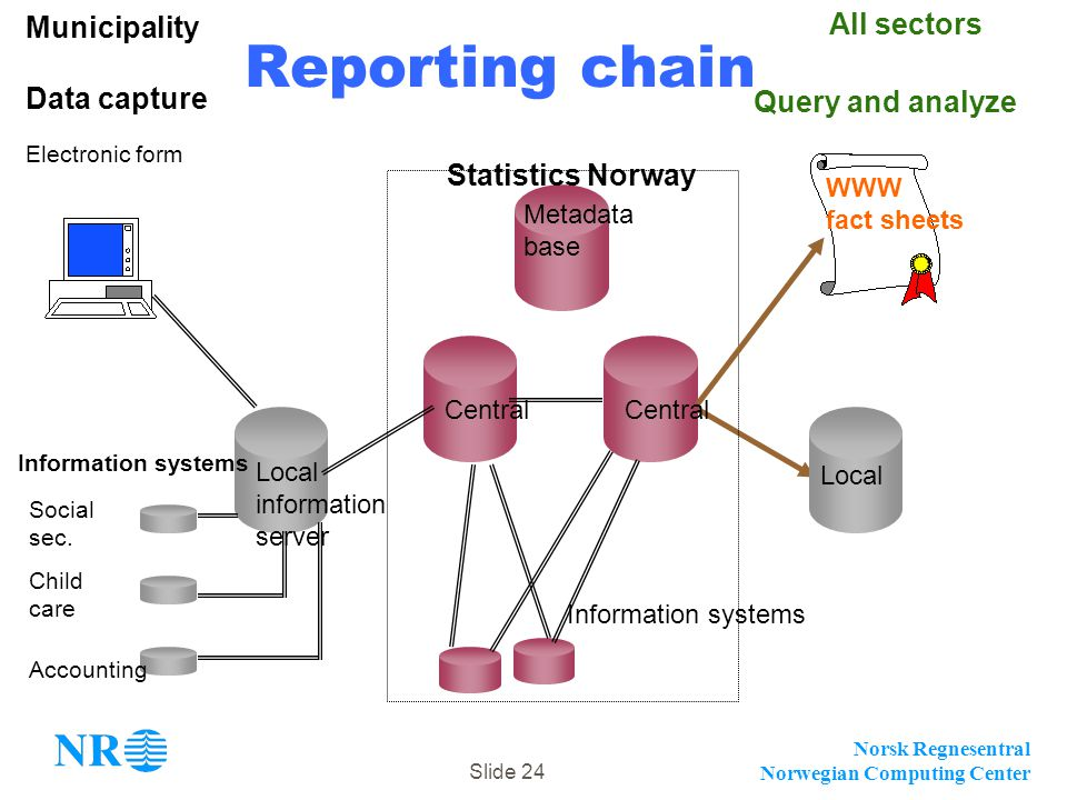 Reporting chain Municipality All sectors Data capture