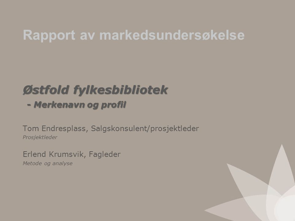 Østfold fylkesbibliotek - Merkenavn og profil