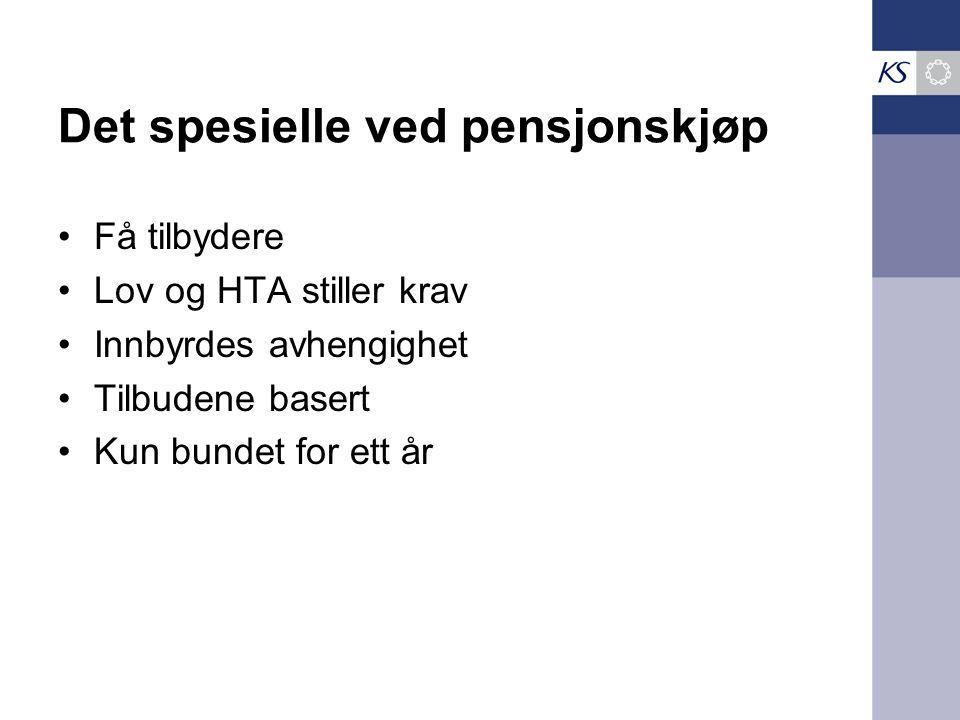 Det spesielle ved pensjonskjøp